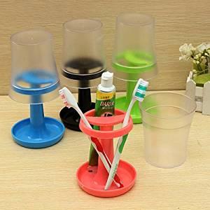 Pink Lizard Creative Table Lamp Shape Toothbrush Holder Wash Gargle Suit