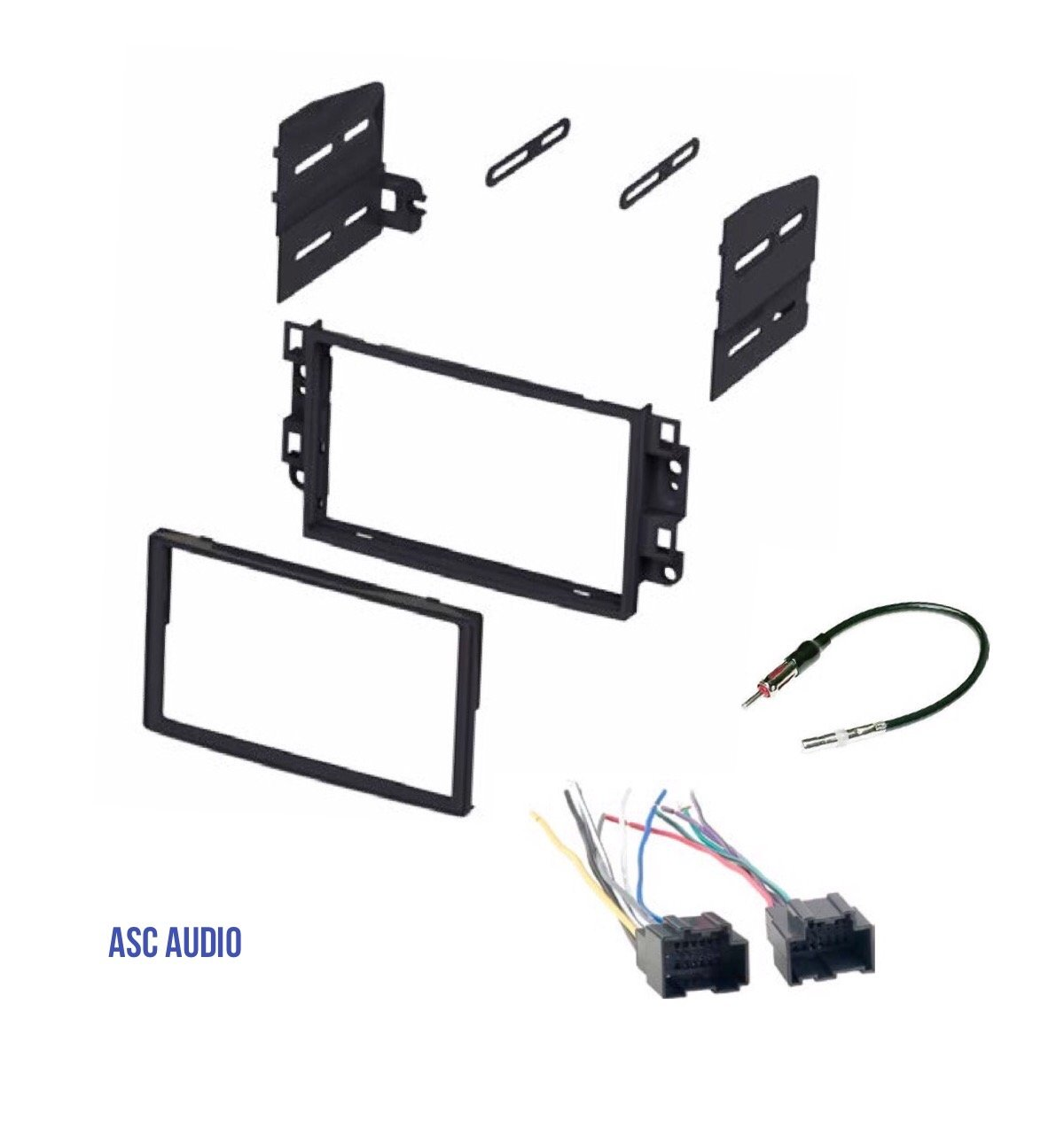 Cheap Radio Wire Harness Connectors Find Car Audio Installation Diagram How Do I Install A Stereo Get Quotations Asc Double Din Dash Kit Antenna Adapter To