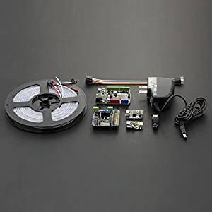 Angelelec DIY Open Source LED Lights,Colorful LED Lights With Bluetooth Kit Bluno Control,Smd RGB LED,Different Colors Can be Displayed Independently,Integrated Bluetooth 4.0,Sensor Expansion Board V7