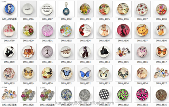 Mixed Colors Exotic 18mm Jewelry Faceted Glass Fit Snap Buttons For Girls