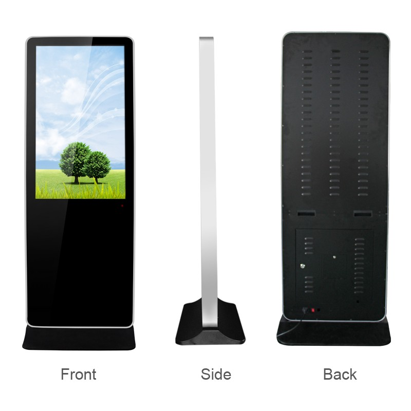 65 Inch Led Stand Multi Display Ad Screen With Lg Panel Touch Screen Kiosk Interactive