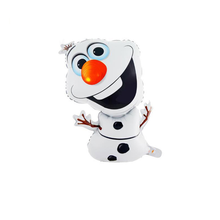 Hot Sell party decoration helium frozen olaf foil balloon for festival kids gift