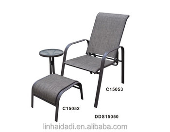 outdoor steel furniture stacking sling chair with ottoman buy rh alibaba com