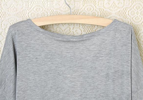 Женщины свободного покроя T рубашка топы рубашка тис пр влюбленность в форме сердца печать о шея полный рукав женщины одежда