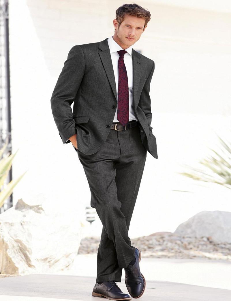 Compra Para hombre trajes de boda gris online al por mayor