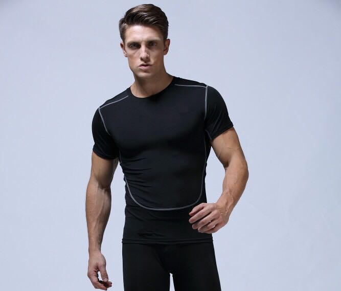 Men's wholesale Custom Logo fitness fashion t shirt 2017 bodybuilding and fitness gym design sports short sleeve t shirts