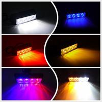 Vehicle Deck Dash Grille Emergency Beacon 4w 4 led strobe flash light