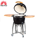 Outdoor ceramic kamado charcoal barbecue grill cheap used big black egg china clay bbq mobile grill