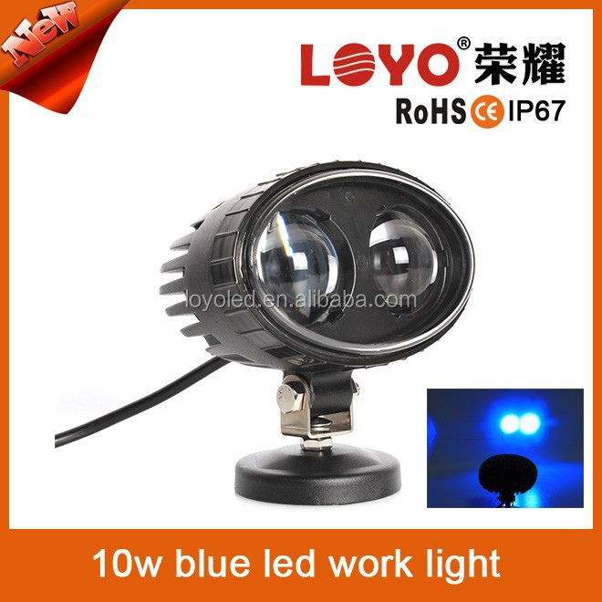 2015 Newest arrival customized Spot 12v/24V blue point led work light,Emergency 10w led flood light Forklift Safety
