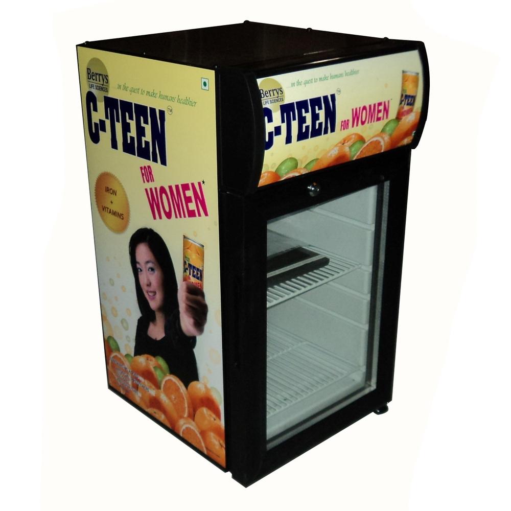 68l Glass Door Mini Refrigerator Mini Fridge Display With