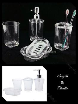 Acrylic Crystal Clear Bathroom Accessory Set