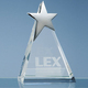 Metal Star Crystal Stele Trophy For Individual Awards