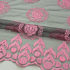 Embroidery Design Latest French Net Lace Netting Lace Embroidered Netting Lace Fabric