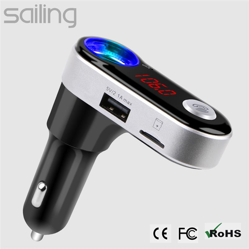 Bluetooth FM Transmitter, Wireless FM Transmitter Car Radio Kit Music Gear MP3 Player am Car Charger Support USB Flash Drive