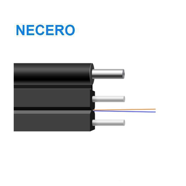 FTTH fig8 steel wire messenger GJYXCH 2 core optic fibers drop cable - idealCable.net