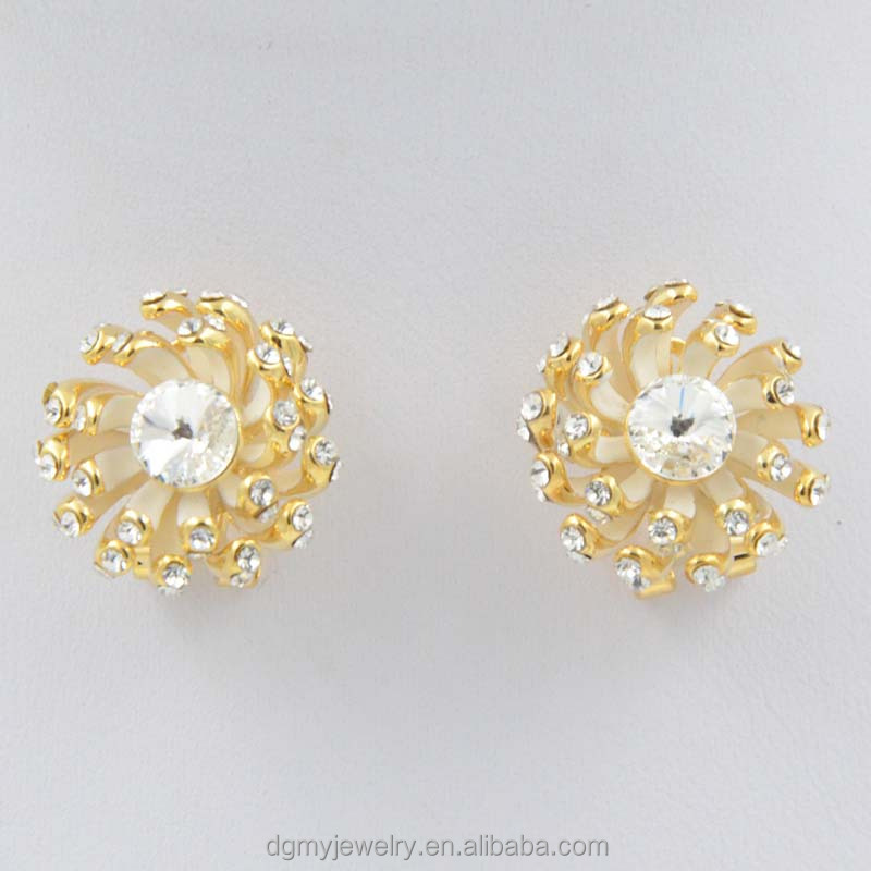 Fashionable Gold Earring Models Latest Design Diamond Earring ...