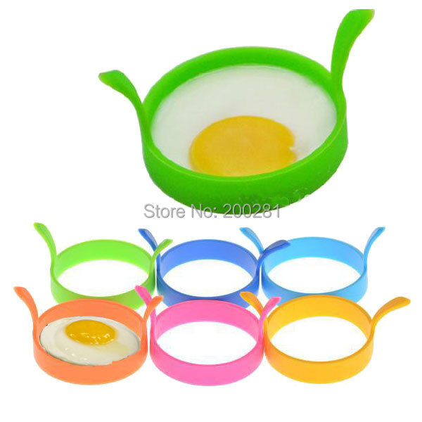 10Pcs/lot Breakfast Round Silicone Egg Mold Rings Fried Egg Mold Mould Poach Oven Pancake Egg Ring Shaper Kitchen Cooking Tools