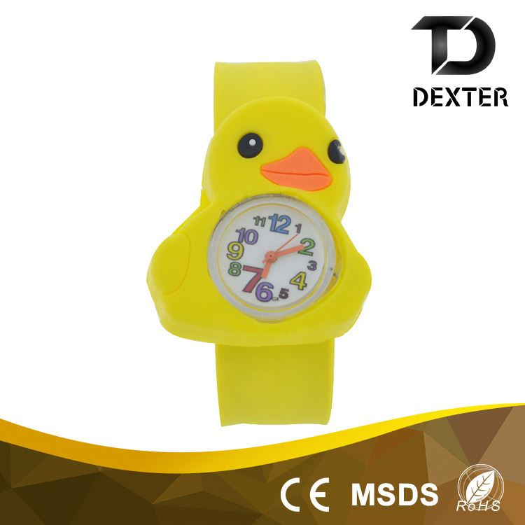 China supplier small moq skid resistance watchband kids slap watch