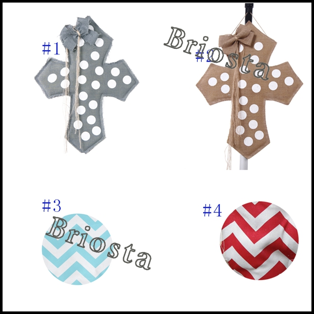 Monogrammed Easter Decorations Burlap Easter Cross With Cute Chevron