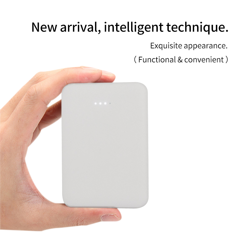 2020 mince poche mobile powerbank 5000mah ultra mince chargeur portable