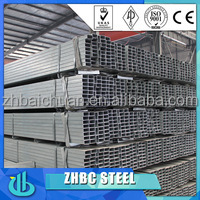 High quality low price SGS BV inspection square shape galvanized steel profile