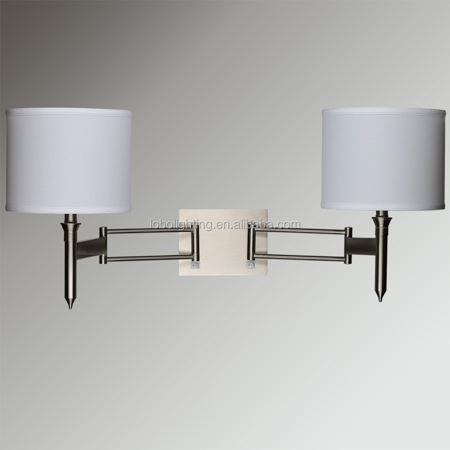Hotel Single Wall Lamp With On/off Rocker Switch At Back Plate And ...