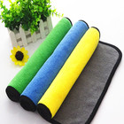 Black microfibre 40cm*40cm absorbent 3m auto car care glass floor kitchen cleaning microfiber cleaning cloth towel