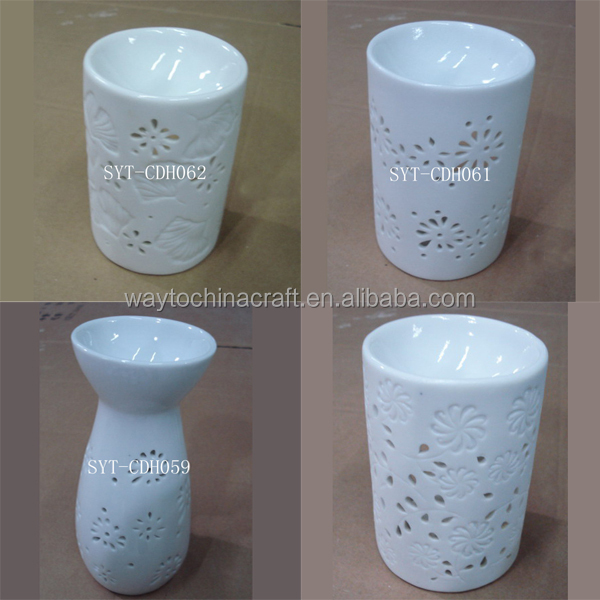 Aroma home essential oil diffuser ceramic porcelain candle holder
