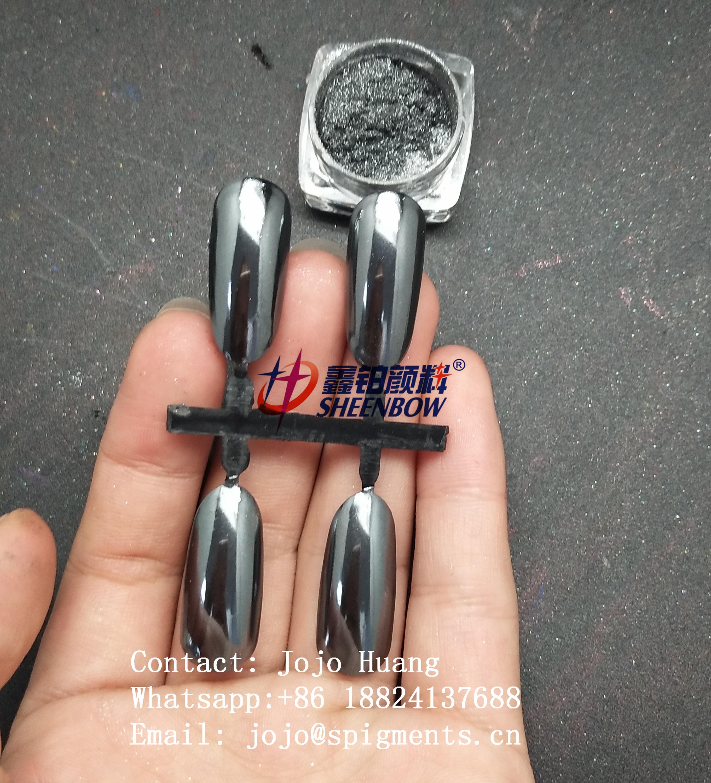 New Arrival Black Mirror Chrome Powder Pigment For Nails Art Nail Decorations
