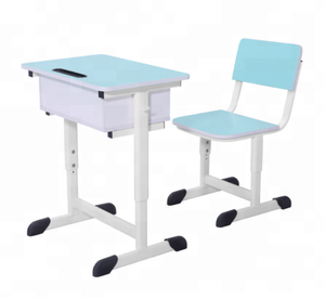 cheap school desk and chair,best selling wooden desk and chair Adjustable single desk and chair