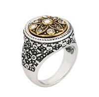 Exquisite Carving Noble Wedding Antique Silver Plating Unique Design Men's Ring