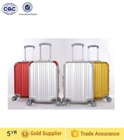 Suitcase type aluminum material luggage trolley bag