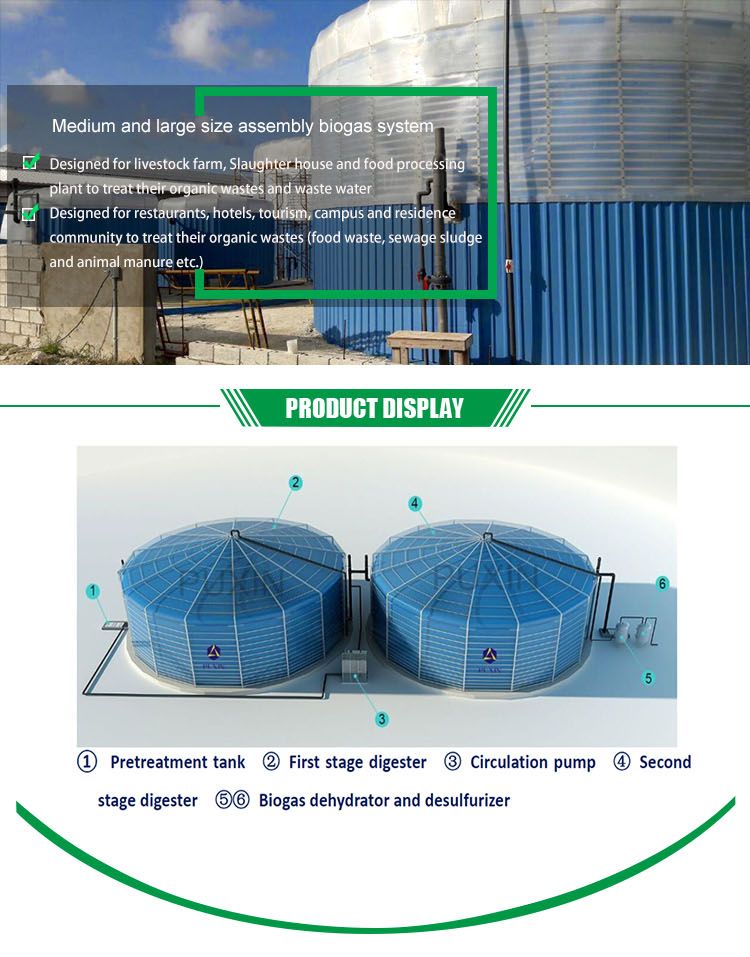 new technology agricultural biogas compactor for food waste treatment plant