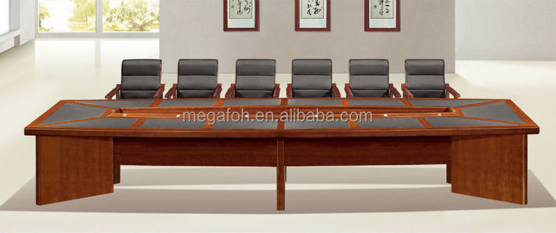 Large Size Wooden Meeting Room Table For 14 People Fohs