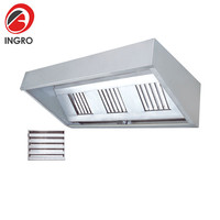 Professional Restaurant Extractor Hood 12V Without Exit To The Outside For Kitchen Hood Cooker