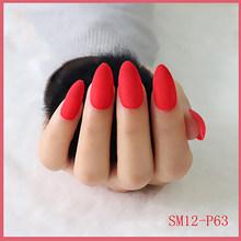19 цветов, 24 шт, матовые накладные ногти, накладные наклейки, накладные ногти, чистый цвет, накладные ногти для украшения ногтей(Китай)