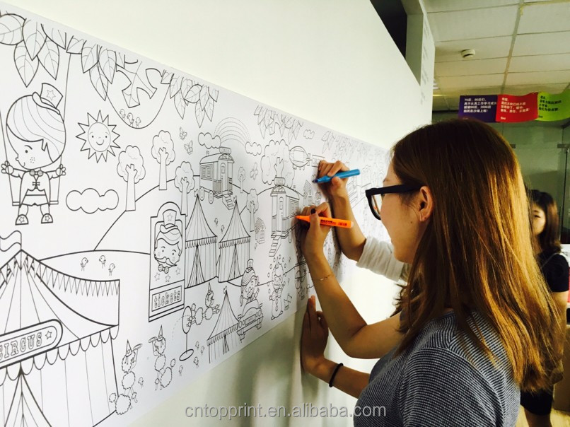 coloring poster for adults