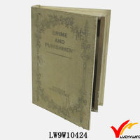 Luckywind chinese antique book shape wooden box