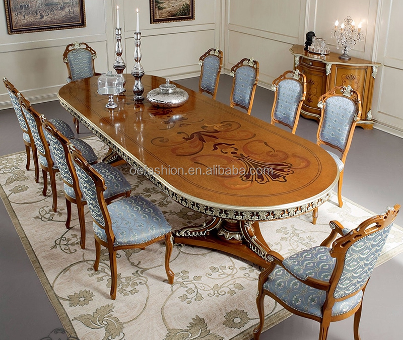 Oe-fashion Wooden Top Long Dining Table 10 Seats,10 Seater Dining
