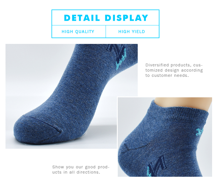 Wholesale Low Cut Mixed Yarn Pure Solid Color Mans Plain Custom Outdoor Sports  Gray Cotton Ankle Socks