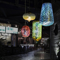 wholesale colorful hand blown glass lamp shade