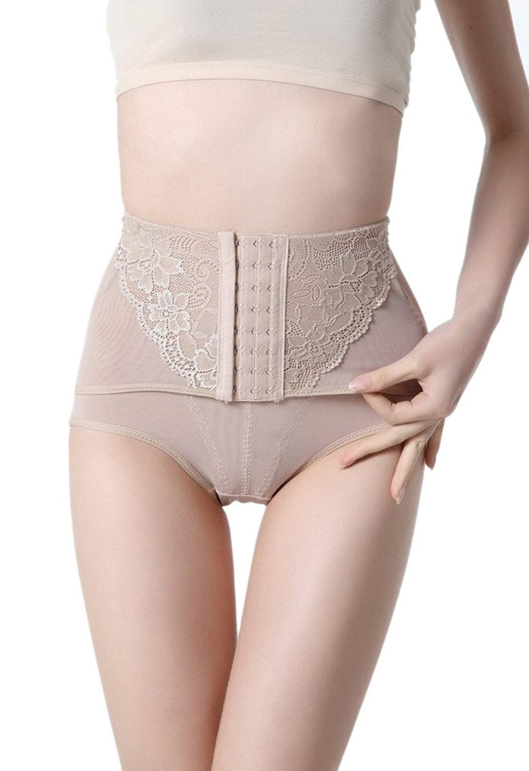 e4fd8de24 Get Quotations · Toyobuy Women Hi-Waist Shapewear Postpartum Belly Recovery  Tummy Control Panty