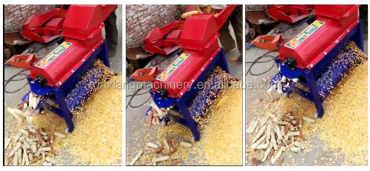 Mini Otomatik mısır daneleme makinesi Ve Harman kombine makine Satılık