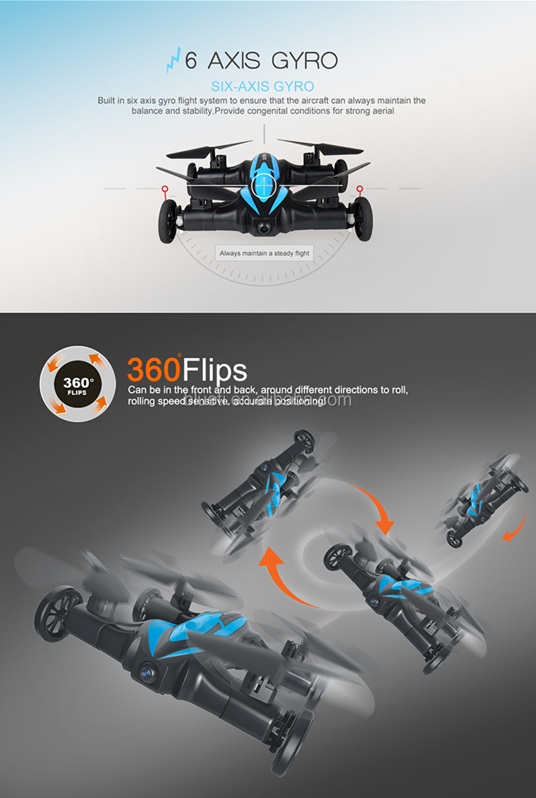2017 Newest hot toys racing drone flying car wifi control quadcopter drone hd camera