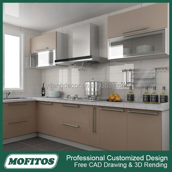 Wholesale high gloss uv finish modular kitchen cabinet for Cheap gloss kitchen units