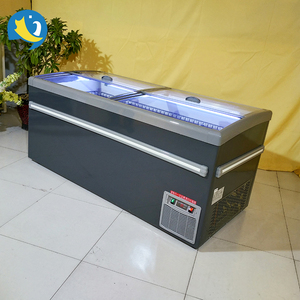 Top quality luxury combined type island freezer food showcase deep freezer sea product food showcase for frozen food