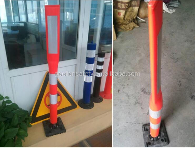 Outdoor Flexible Polyethylene Plastic Looper-Top Traffic Sign Post