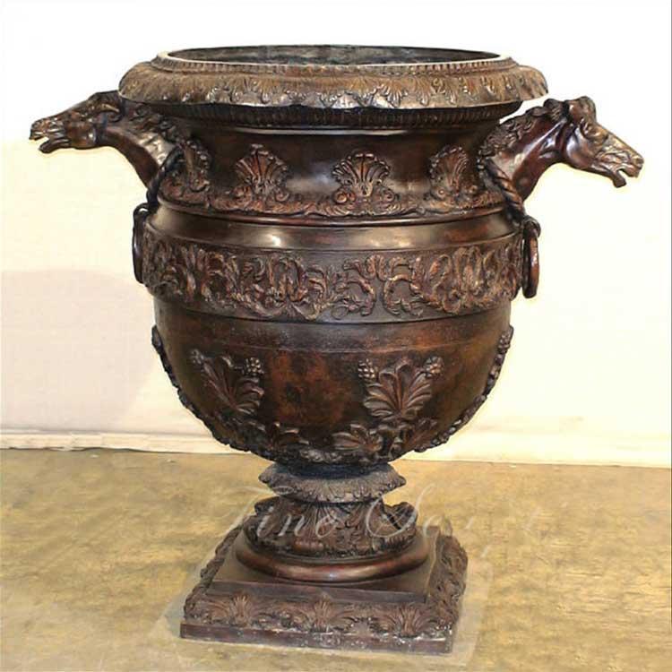 Bronze Metal Flower Planters Pots