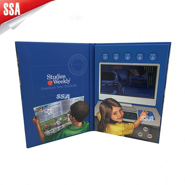 "2014 Popular 7"" lcd video cards, video brochure, video printed card"