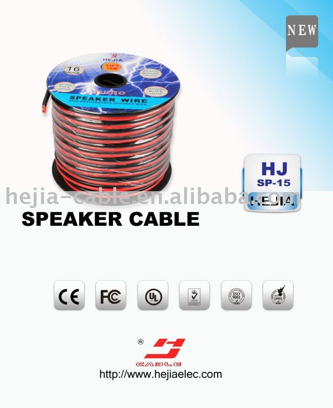 black and red speaker cable with high-quality